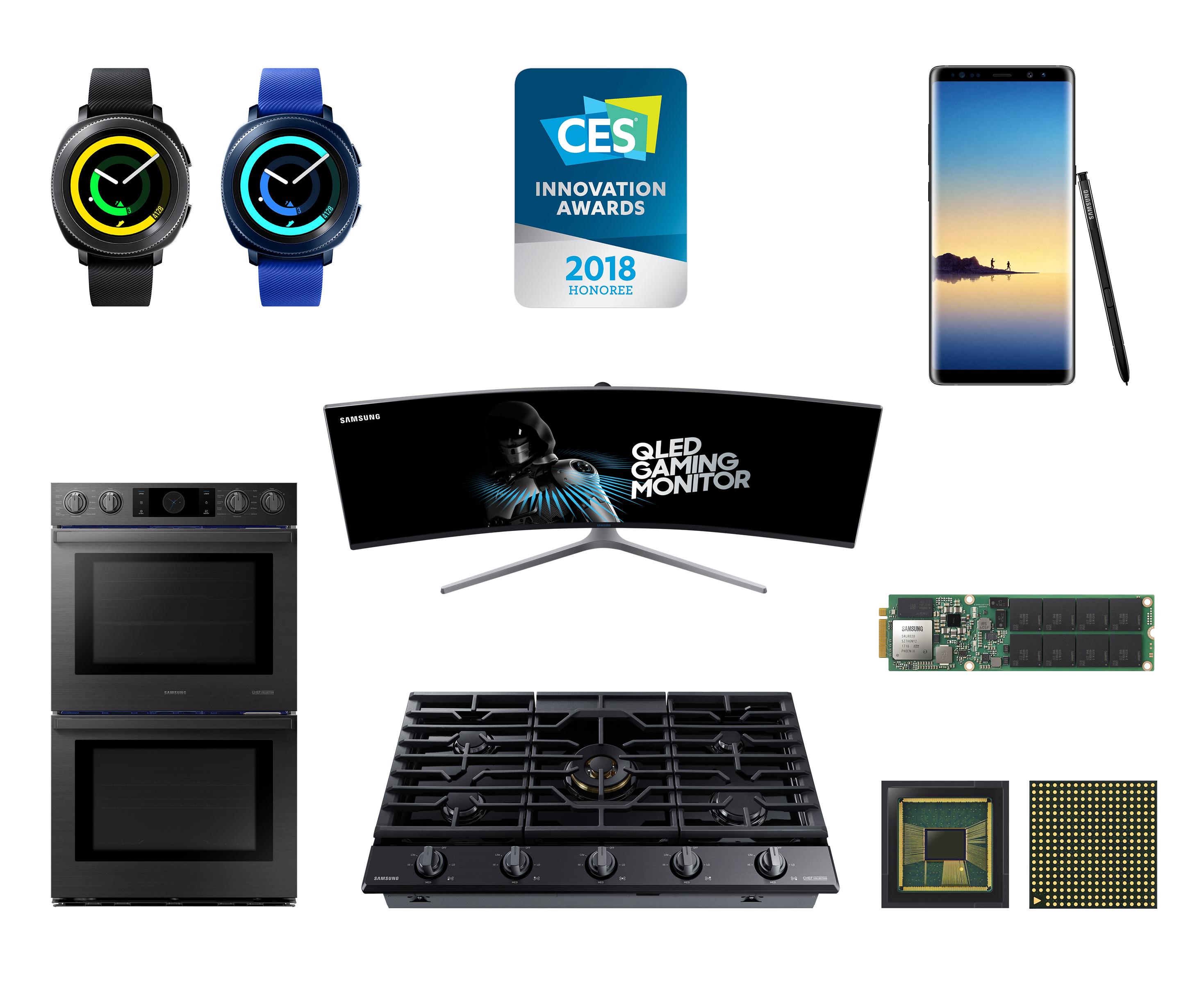 ▲CES 혁신상 수상한 삼성전자 제품들