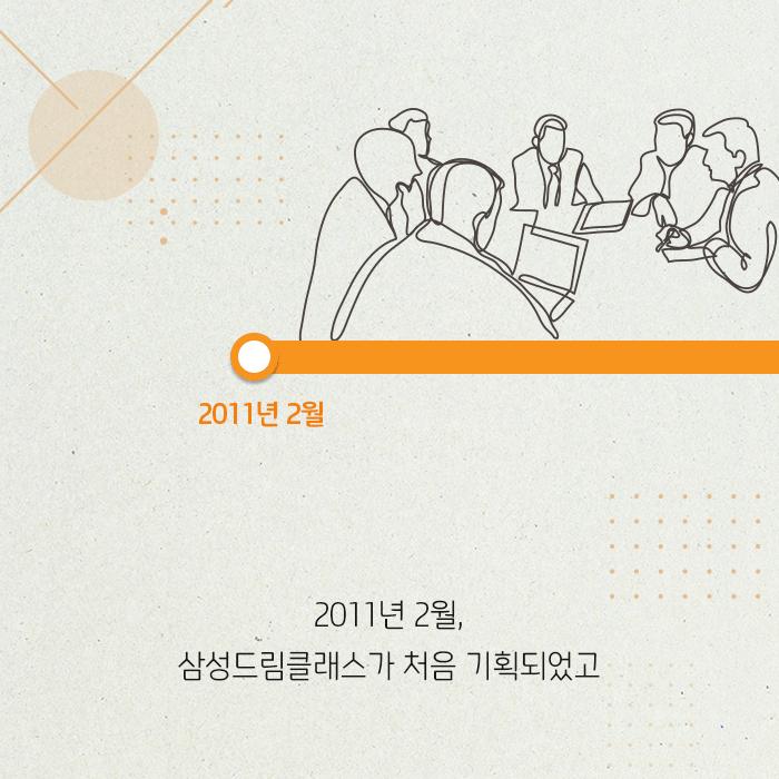 2012년 2월 삼성드림클래스가 처음 기획되었고