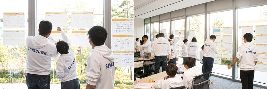 참가자들이 열정적으로 수업에 임하고 있다