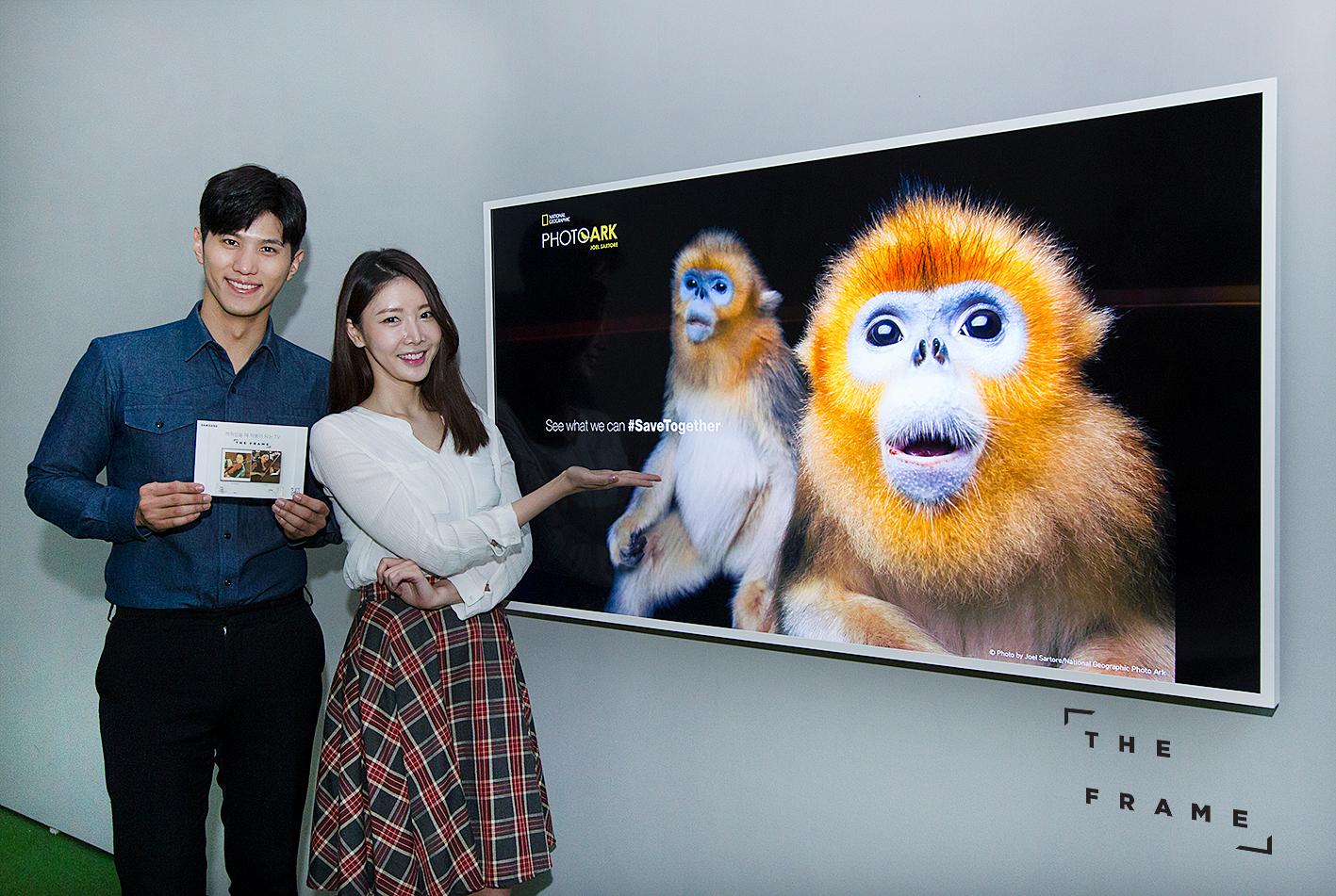 삼성전자는 이달 10일부터 내년 3월 4일까지 서울 용산 전쟁기념관에서 열리는 '내셔널지오그래픽 특별전'에 참가해 라이프스타일 TV '더 프레임'을 통해 멸종 위기에 처한 동물들을 사진으로 기록한 미디어 아트를 전시한다. 또한 삼성전자는 멸종 위기 생물 종을 보호하기 위해 '세이브 투게더(Save Together)' 캠페인을 내셔널지오그래픽과 공동 진행한다. 라이프스타일 TV '더 프레임'의 '아트 스토어' 를 통해 내셔널지오그래픽 특별전 동물 사진 30여장을 판매하고, 수익금 전액을 기부할 계획이다.