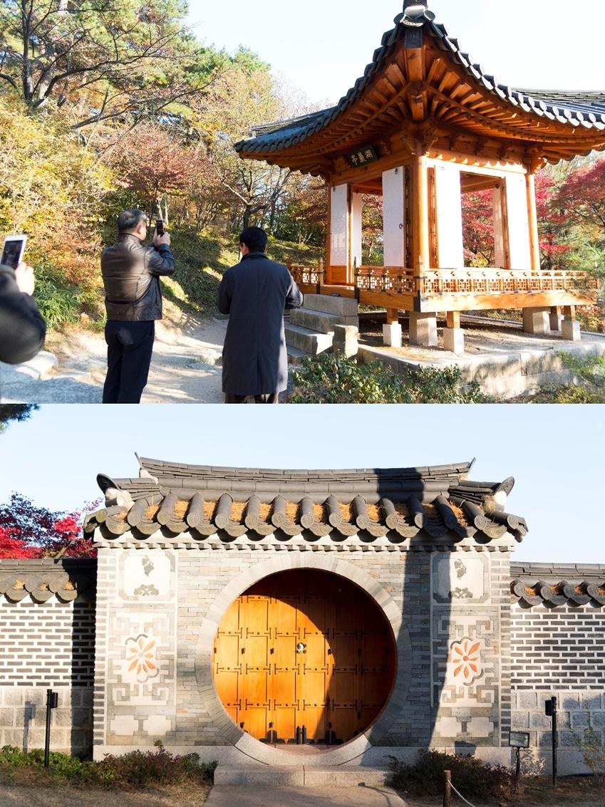 ▲ 호암정과(사진 위) 월문(사진 아래)