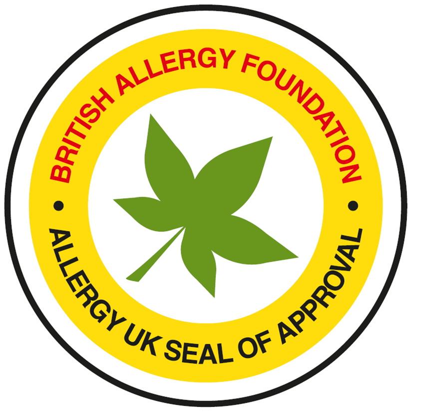 영국 알레르기 협회 BAF의 알레르기 차단 평가 인증 로고