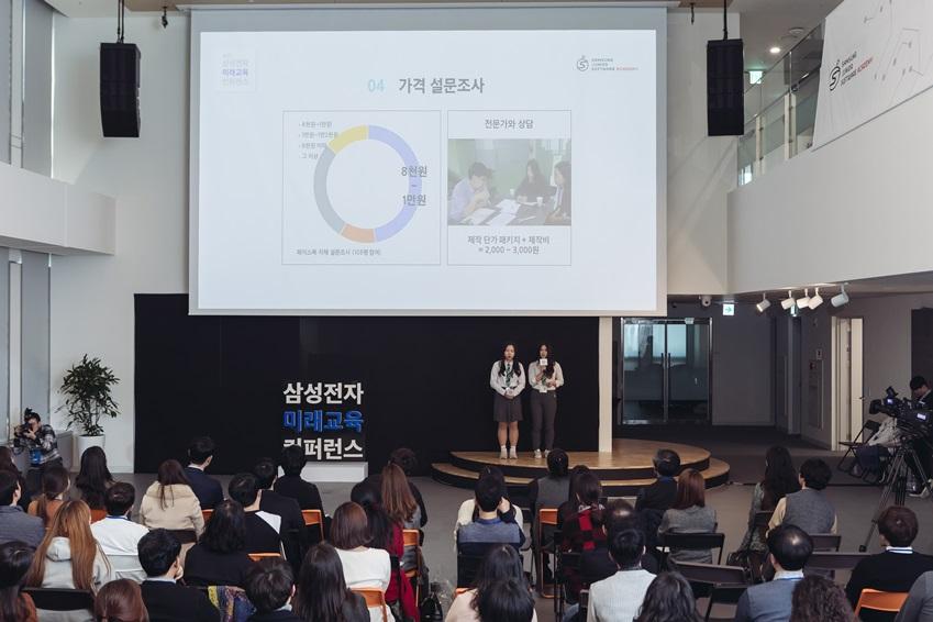 . '곡률 변화 뷰러'를 발명한 심석고등학교 2학년 정소영 학생, 박규리 학생