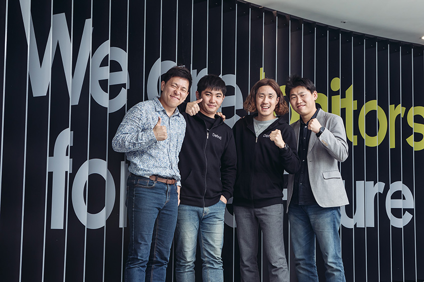 ▲ '디파인드'의 김주형 대표, 전낙현 이사, 서승환 이사 권중헌 이사(좌측부터)