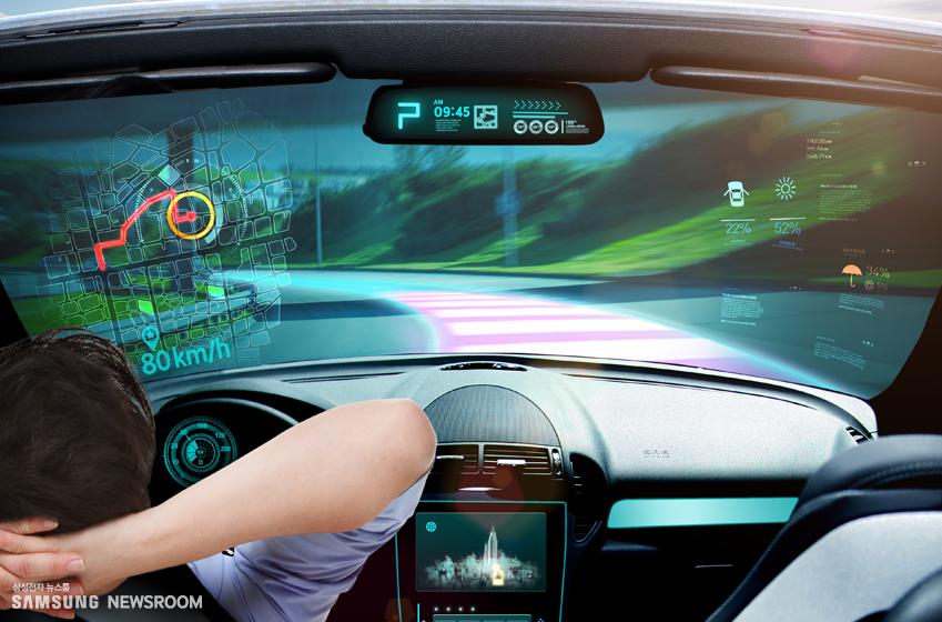 미래의 자율주행 자동차의 모습