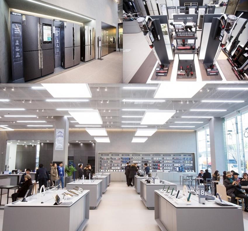 ▲ 체험존과 별도로 마련된 쇼룸에서는 가전제품부터 모바일 기기까지 다양한 제품의 라인업을 한 눈에 살펴볼 수 있다