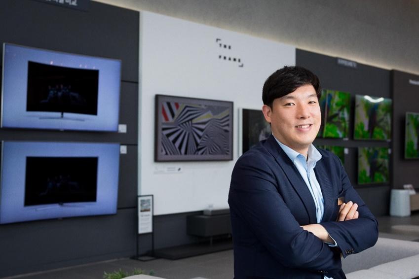 ▲삼성 디지털프라자 용인구성점의 최근철 지점장