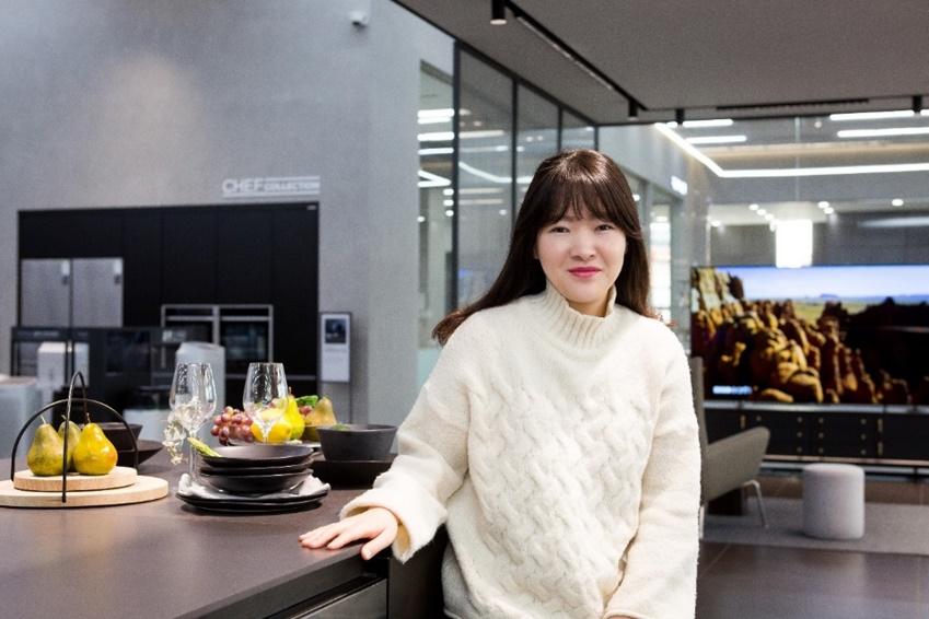 ▲삼성 디지털프라자 용인구성점에 방문한 조효정 씨