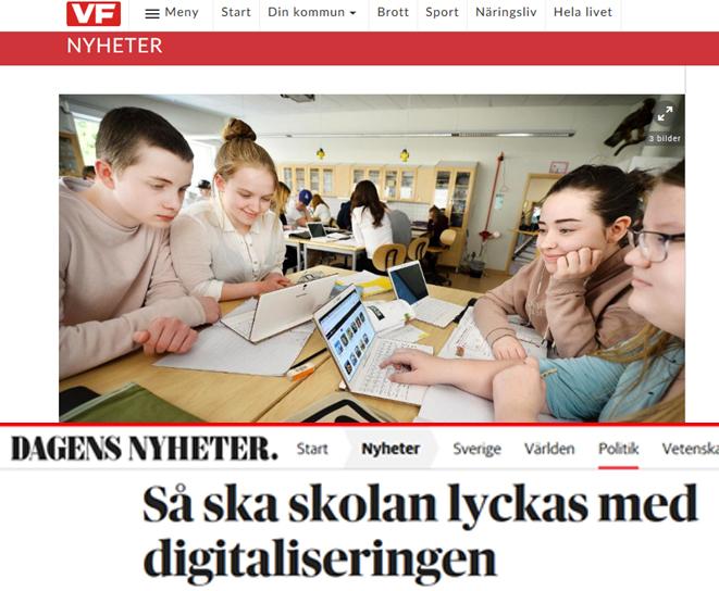 ▲ 스웨덴 현지 언론에 소개된 스마트스쿨
