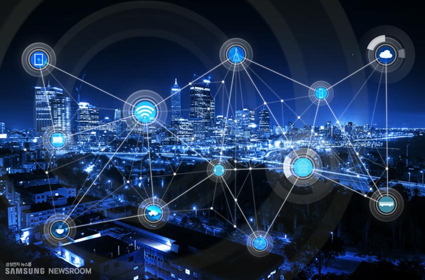 온라인으로 연결된 도시의 야경