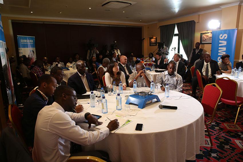▲나이로비에서 진행된 '저탄소 친환경 쿡스토브' 지원 협약 현장