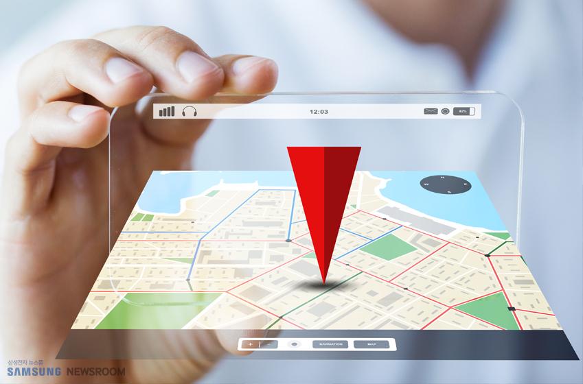 증강현실 형태의 휴대폰 네비게이션