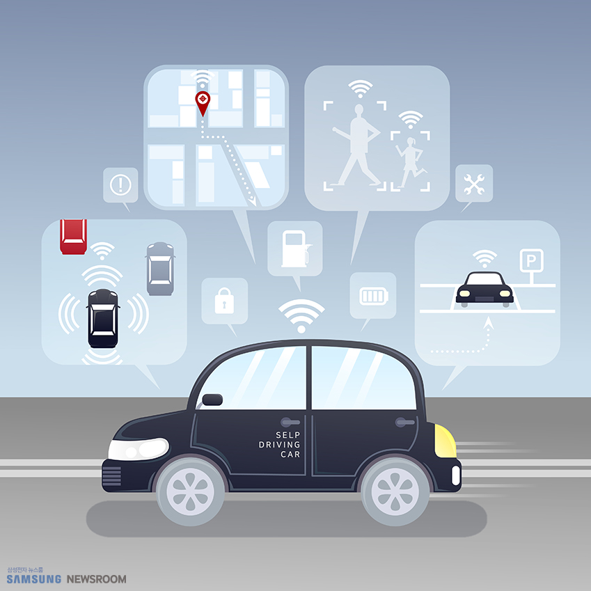 다양한 데이터를 기반으로 차량의 움직임을 결정하는 자율주행 자동차