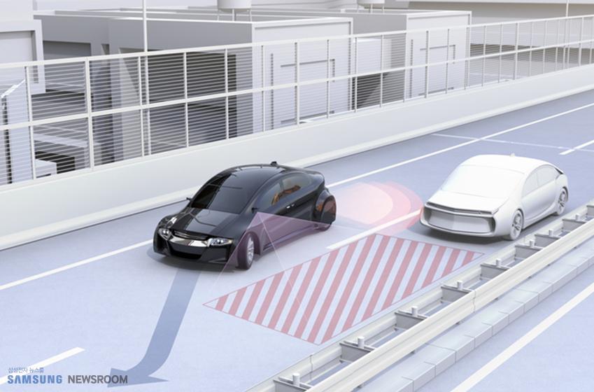 자동차의 자율 주차 모습