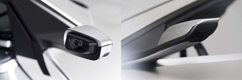 (사진 설명: 사이드 미러 대신 장착된▲ 사이드미러를 대체한 MRVS 카메라)