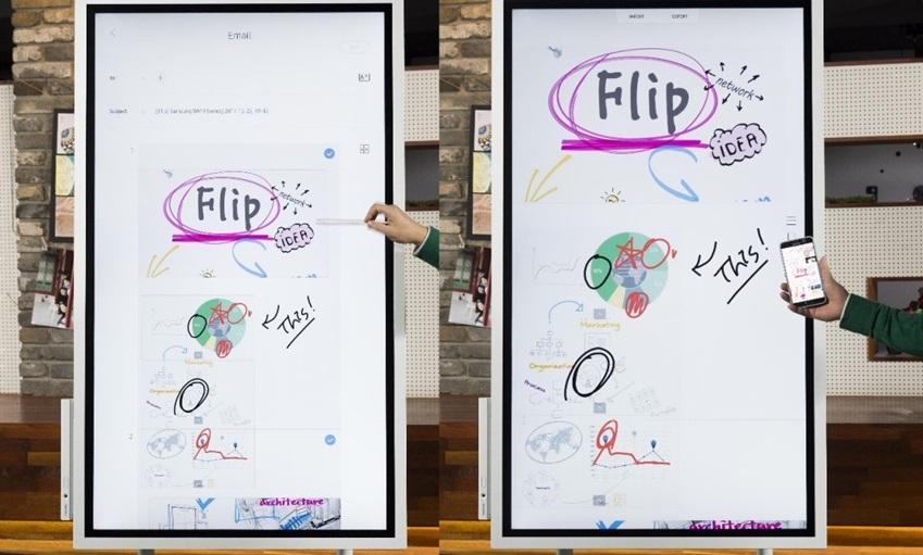 인터랙티브 디슬플레이 '삼성 Flip'