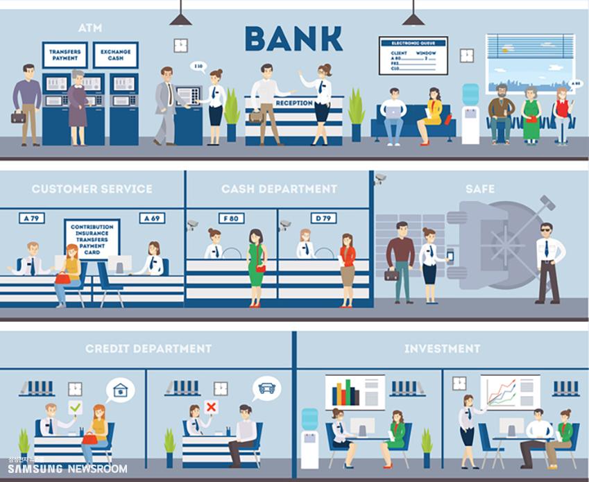 은행 내부 모습
