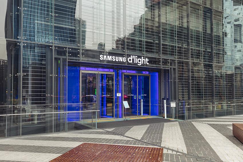 삼성 딜라이트 입구의 모습