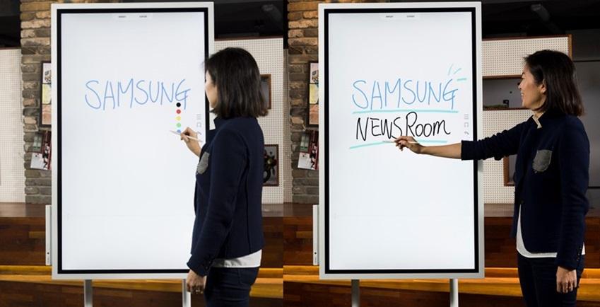 인터랙티브 디슬플레이 '삼성 Flip' / SAMSUNG NEWSROOM