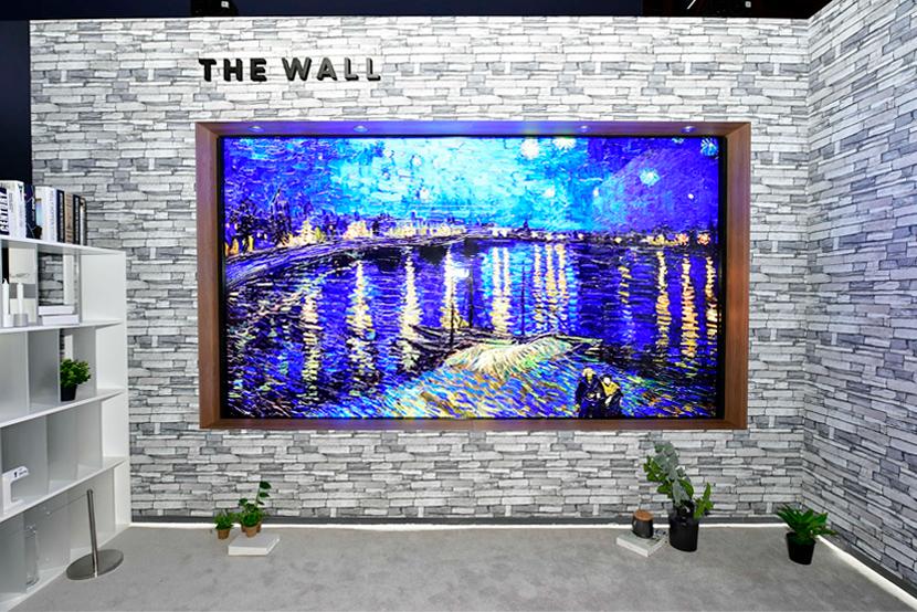 ▲ '마이크로 LED 기술'을 적용한 146형 모듈러(Modular) TV '더 월(The Wall)'