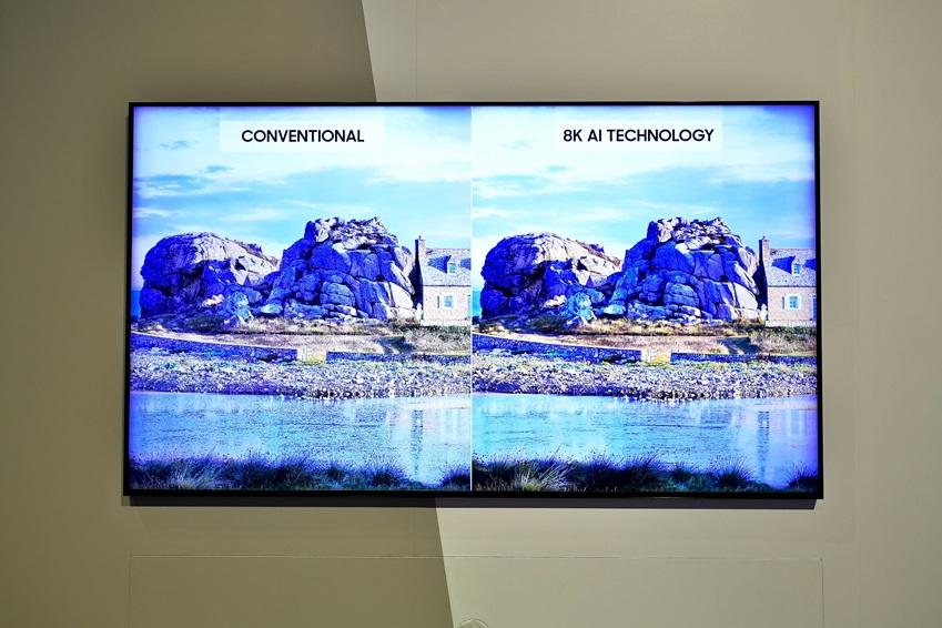 ▲(왼쪽부터) 동일한 콘텐츠를 4K와 8K의 화질로 비교했다. 마이크로 LED 디스플레이는 자발광 소자를 이용해 밝은 곳은 더 밝게 어두운 곳은 더 어둡게, 명암을 명확하게 구현한다