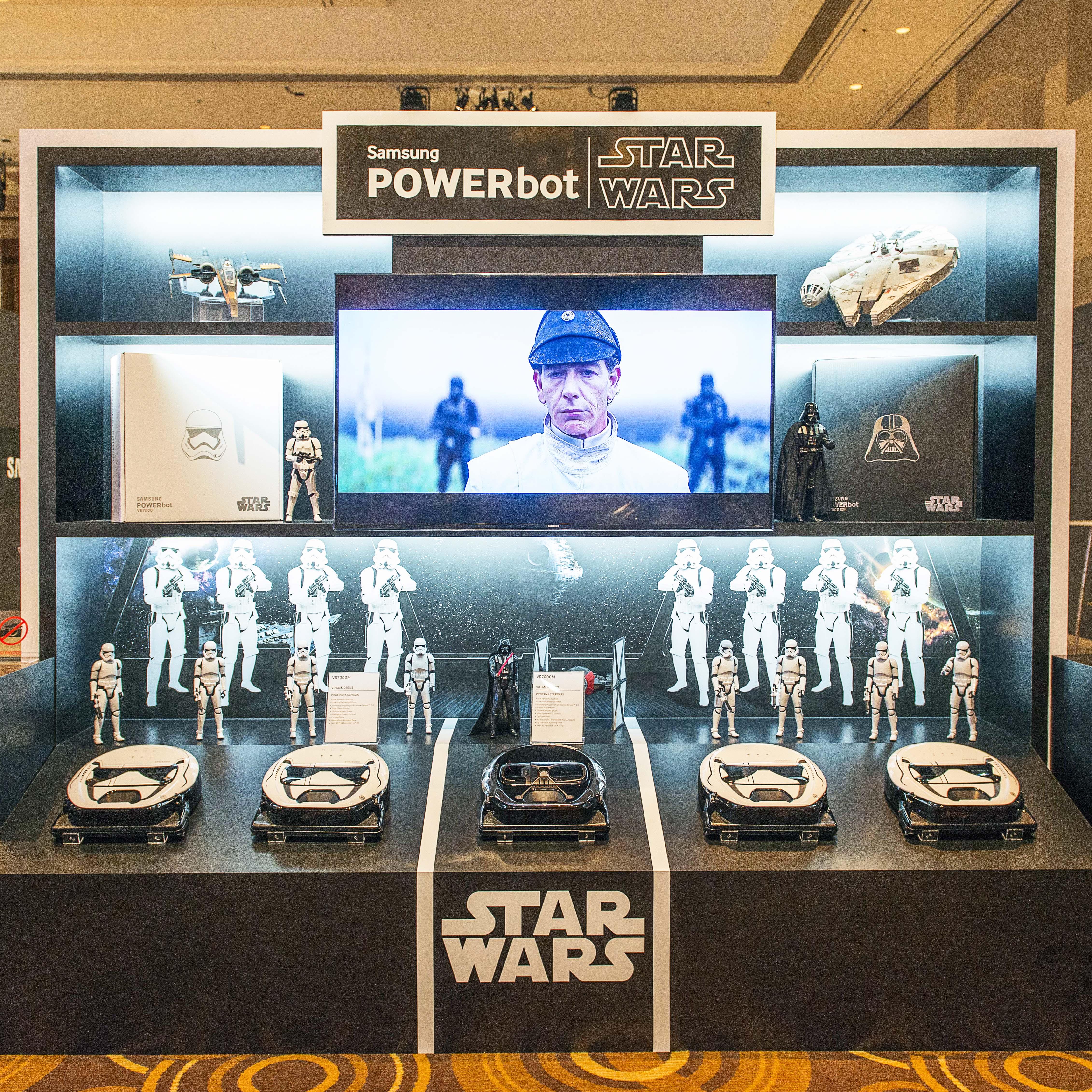 CES 현장에 전시된 파워봇 스타워즈 에디션