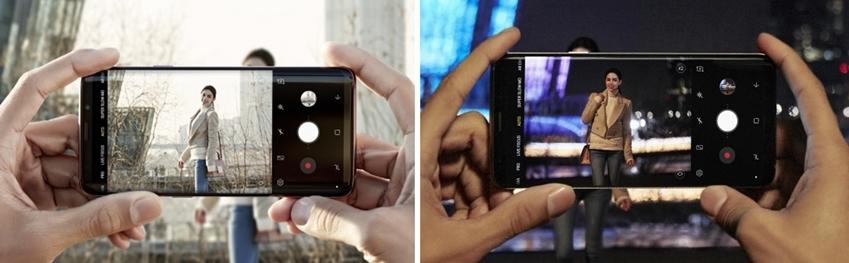 어두운 곳에서도 선명한 촬영이 가능한 갤럭시 S9, S9+