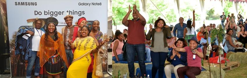 ▲지난해 9월 24일 남아공 국경일 중 하나인 헤리티지데이를 맞아 남아공법인이 준비한 프로모션 행사 현장. 오른쪽 사진은 임직원과 가족들이 함께한 지난해 패밀리데이 당시 모습이다