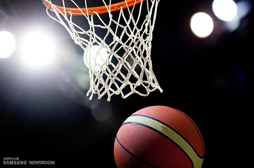 농구 골대와 농구공