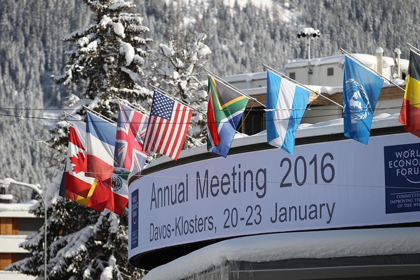 매년 1월 스위스 다보스에서 열리는 세계경제포럼 현장