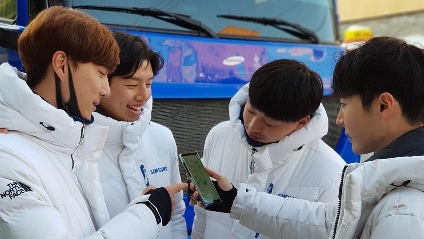 커넥트 태그 앱 / 삼성전자 스마트폰의 삼성 커넥트 앱을 통해 성화의 실시간 위치를 쉽게 확인할 수 있었다
