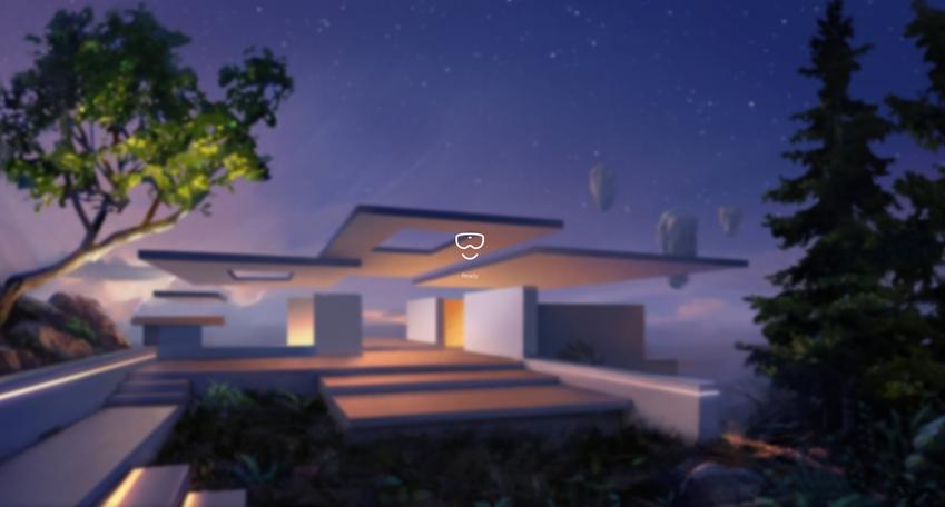 HMD 오디세이의 기본 화면인 '클리프 하우스'