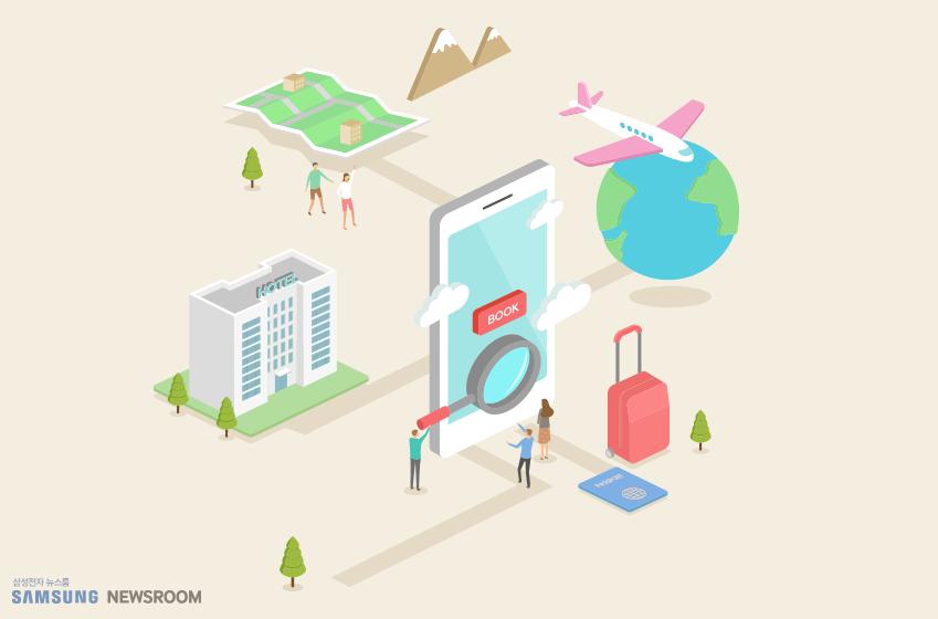 고객이 빅데이터를 이용해 여행을 예약하는 과정