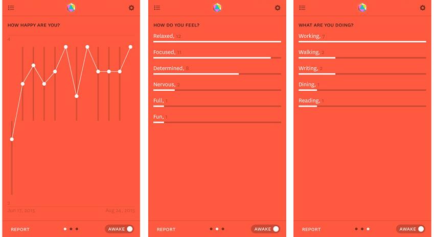 ▲데이터 수집 전문 앱 '리포터'의 주요 인터페이스