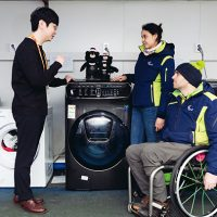 삼성전자, 2018 평창 동계패럴림픽대회에 음성인식 '플렉스워시' 등 세탁기·건조기 공급