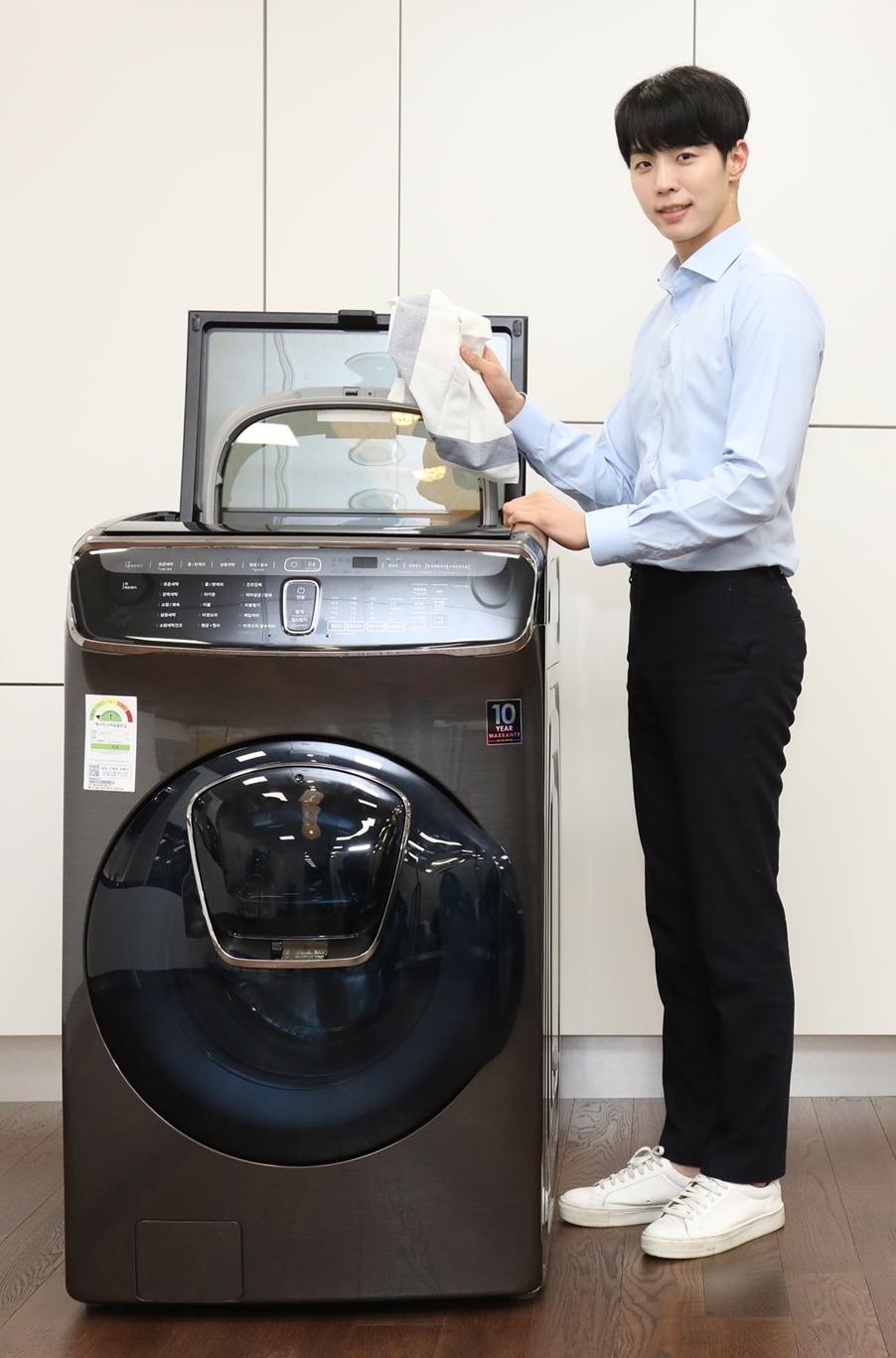 삼성전자 모델과 새로 출시된 플랙스워시 세탁기
