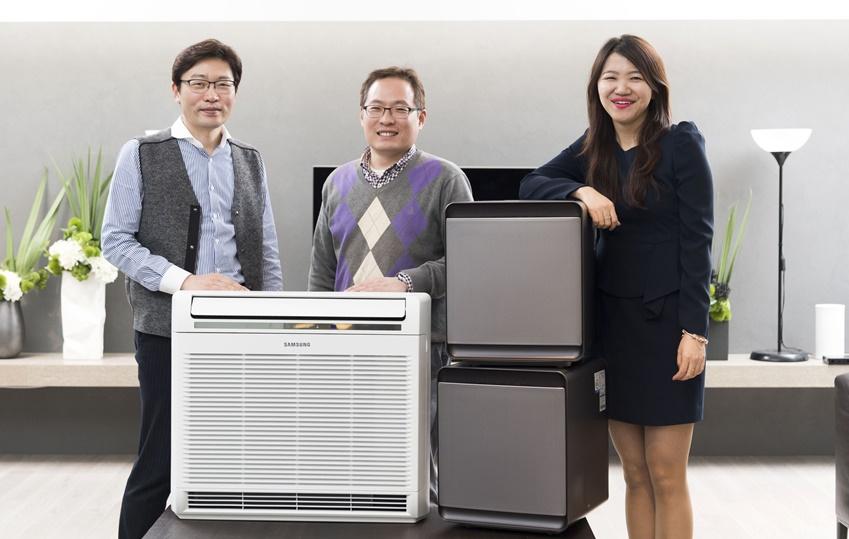 (왼쪽부터) 삼성전자 개발팀 임영석 씨, 우동우 씨, 전략마케팅팀 이경주 씨