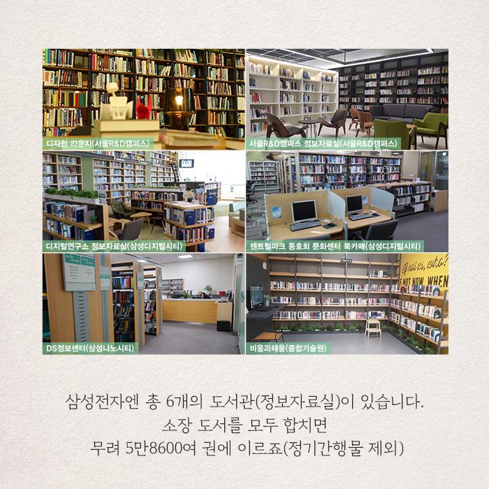 삼성전자 사업장에 마련된 총 6곳의 도서관에서 대여 순위가 가장 높았던 책 6권을 지금 만나볼까요?