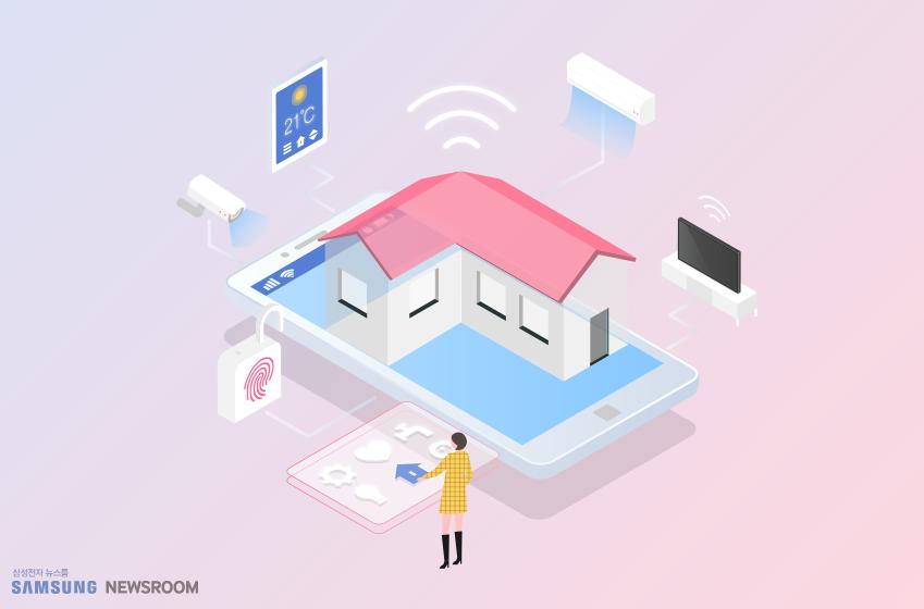 사물인터넷으로 집안 곳곳을 편하게 작동한다
