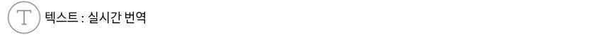 텍스트 : 실시간 번역
