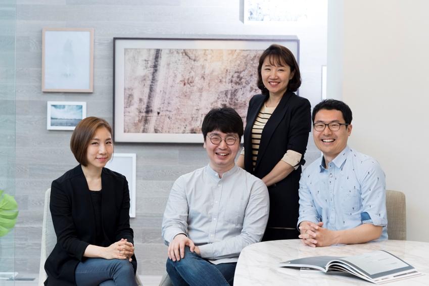 삼성전자 생활가전사업부 UX혁신파트 팀원들