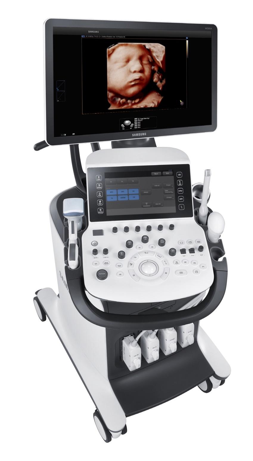 크리스탈라이브 영상처리엔진 적용된 프리미엄 초음파 진단기기 'WS80A' 제품사진