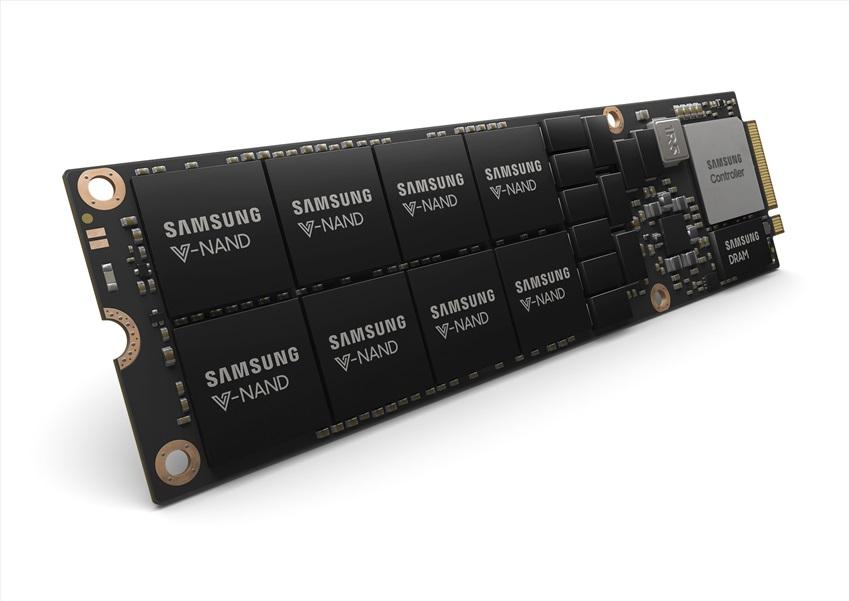 삼성전자가 출시하는 새로운 규격의 대규모 데이터센터용 '8TB NF1 SSD' 제품 이미지