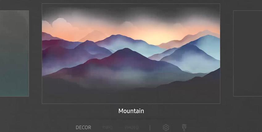매직스크린 앰비언트 모드 설정 화면