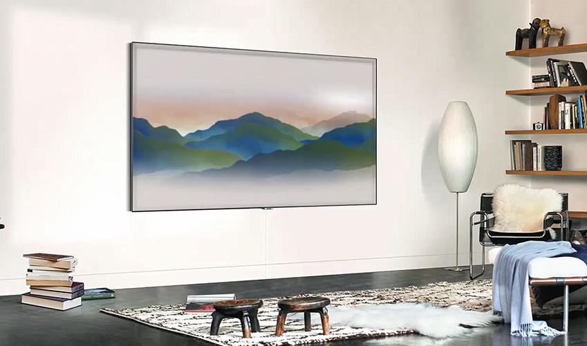 매직스크린이 적용된 TV 화면
