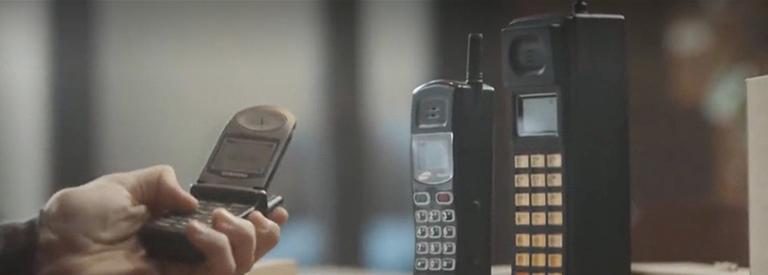 [뉴스CAFE] 30년 전 휴대폰은 어떤 모습?