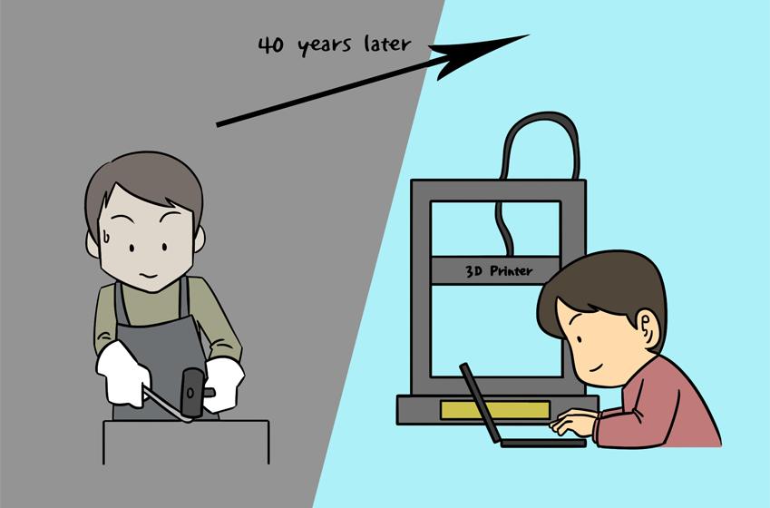 3D 프린팅의 변천사