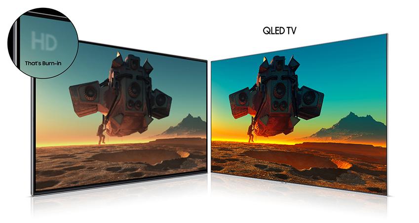 일반 HDTV와 QLED TV의 화질 차이