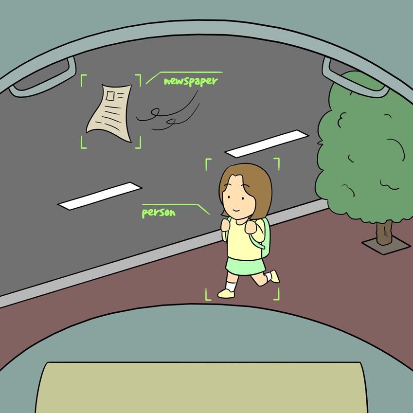 라이다 센서가 확보한 이미지만으로 '길 건너는 사람'과 '바람에 날아가는 신문지'를 정확하게 구분해내긴 쉽지 않다
