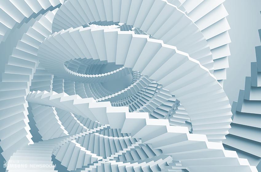 상향성 3D 나선형 구조